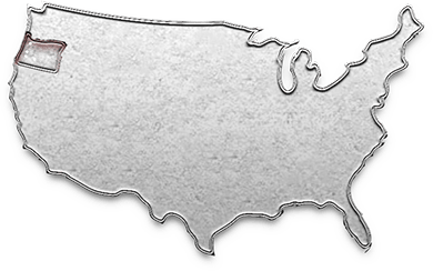 map showing outline of USA, highlighting Oregon